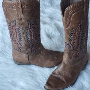 Cowgirl Boots Coconuts Paisley size 10